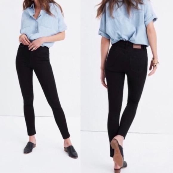 J. Crew Denim - J.crew Lookout High-Rise Skinny Jeans Black 28Tall